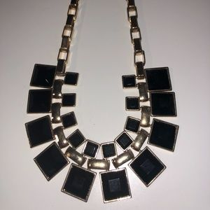 Black and Gold Statement Necklace from Forever 21